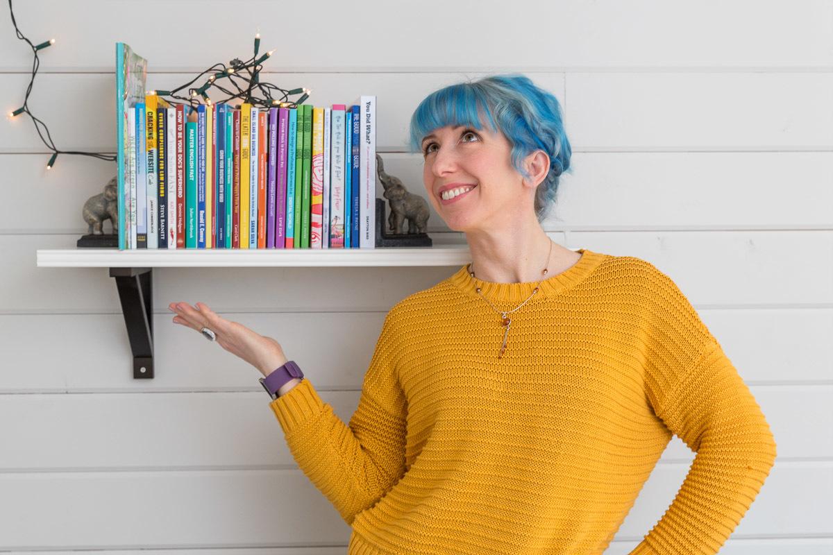 Bookshelf full of my authors